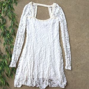 Free People Lace Overlay Dress
